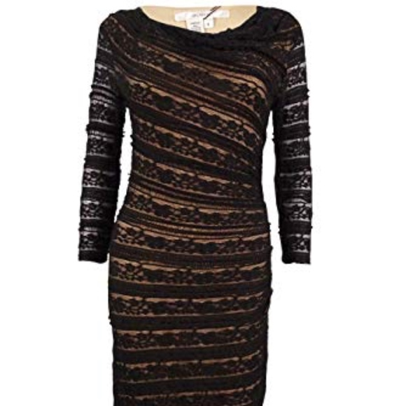 Studio M Dresses & Skirts - Studio M  Lace Overlay Bodycon Black Dress XS